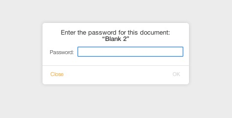 Password required to open iWork Document