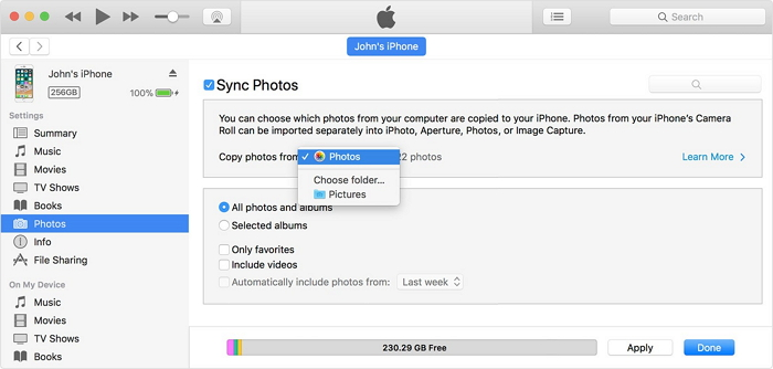 sync iphone to computer - step 3