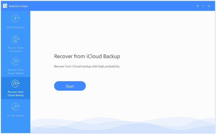 recover from icloud backup mode