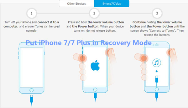 put iPhone 7 into recovery modee