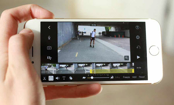 Adjust Video Speed on iPhone with iMovie